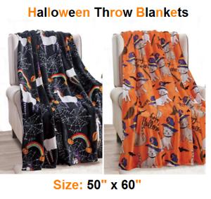 Soft-Plush-Warm-All-Season-Halloween-Throw-Blankets-50-034-X-60-034-Great-Gift