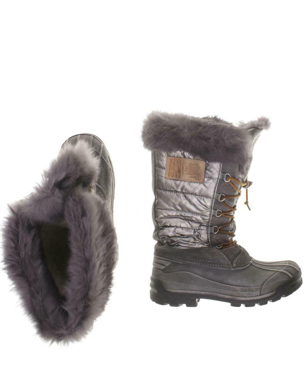 Momino Stiefel Damen Stiefel Gr. DE 38 kein Etikett grau  73e23a6