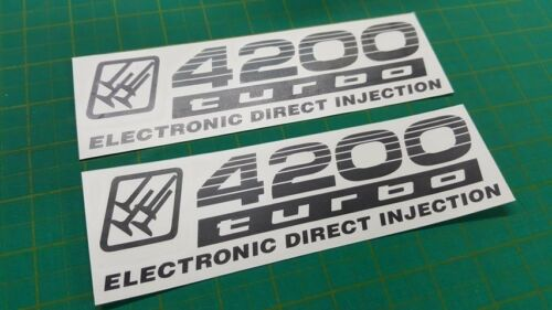 TOYOTA PRADO LAND CRUISER 100 4200 turbo injection remplacement decals stickers