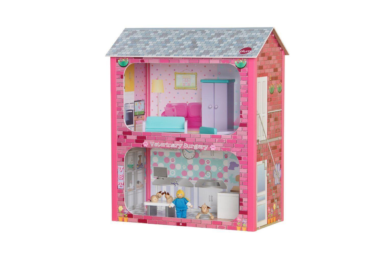 Plum Camden Corte Bambole Legno Casa con Accessori, per bambini Dollshouse