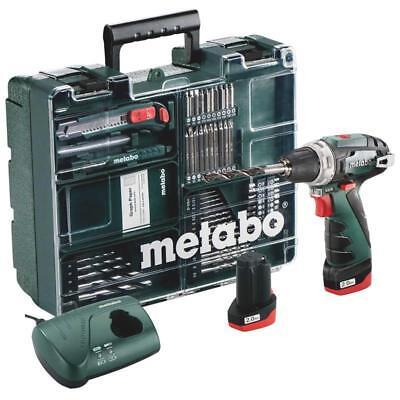 Metabo Akku-Bohrschrauber Powermaxx BS Basic Set 10,8V Mobile Werkstatt+2Akkus
