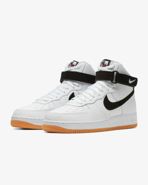 Nike Air Force 1 High White Black Gum Bottom AT7653-100 Size 8-13 New