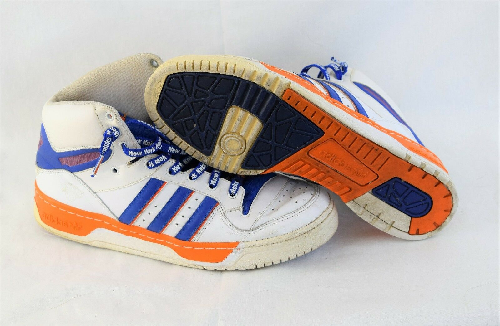 Mens Size 11 OG 2008 Adidas 789002 TreFoil Retro Ewing New York Knicks Sneakers
