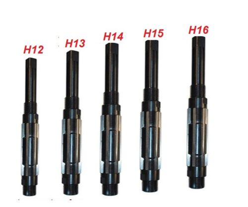 5 PCS ADJUSTABLE HAND REAMER SET H-12 TO H-16 SIZES 1.1//16 INCH TO 2.7//32 INCH
