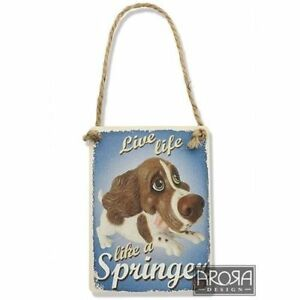 Little Paws 3609 Springer Spaniel Liver and White Dog Plaque