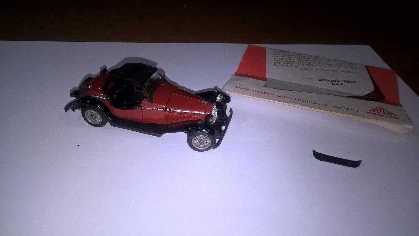PoliJuguetes SerieM art.532 Alfa Romeo Quattroruote Zagato 1750 ottima con Brochure