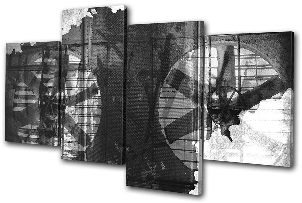Industrial Grunge Abstract Abstract Abstract MULTI TELA parete arte foto stampa 049c6f