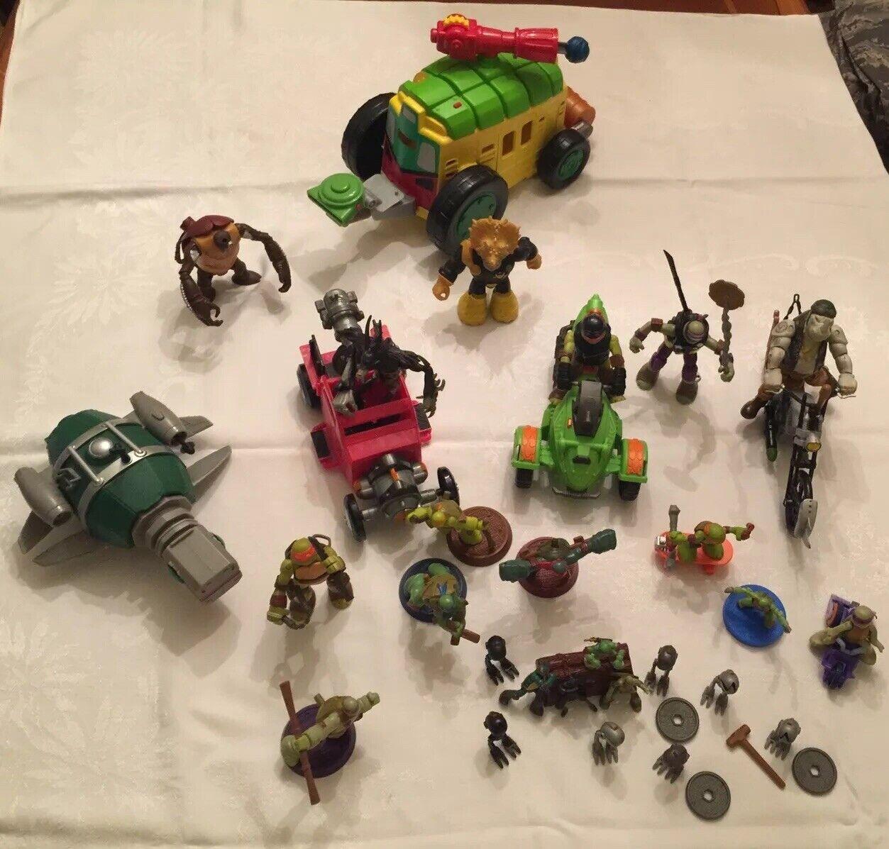 para barato Tortugas Ninja Juguetes Lote de 38 figuras de de de acción, vehículos, Miniatura Ninjas  mejor calidad mejor precio