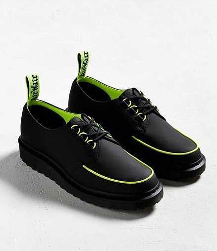 Dr Martens Ramsey Noir Alt Creeper Chaussures Lacets Fluo Uk 6 Eu 39