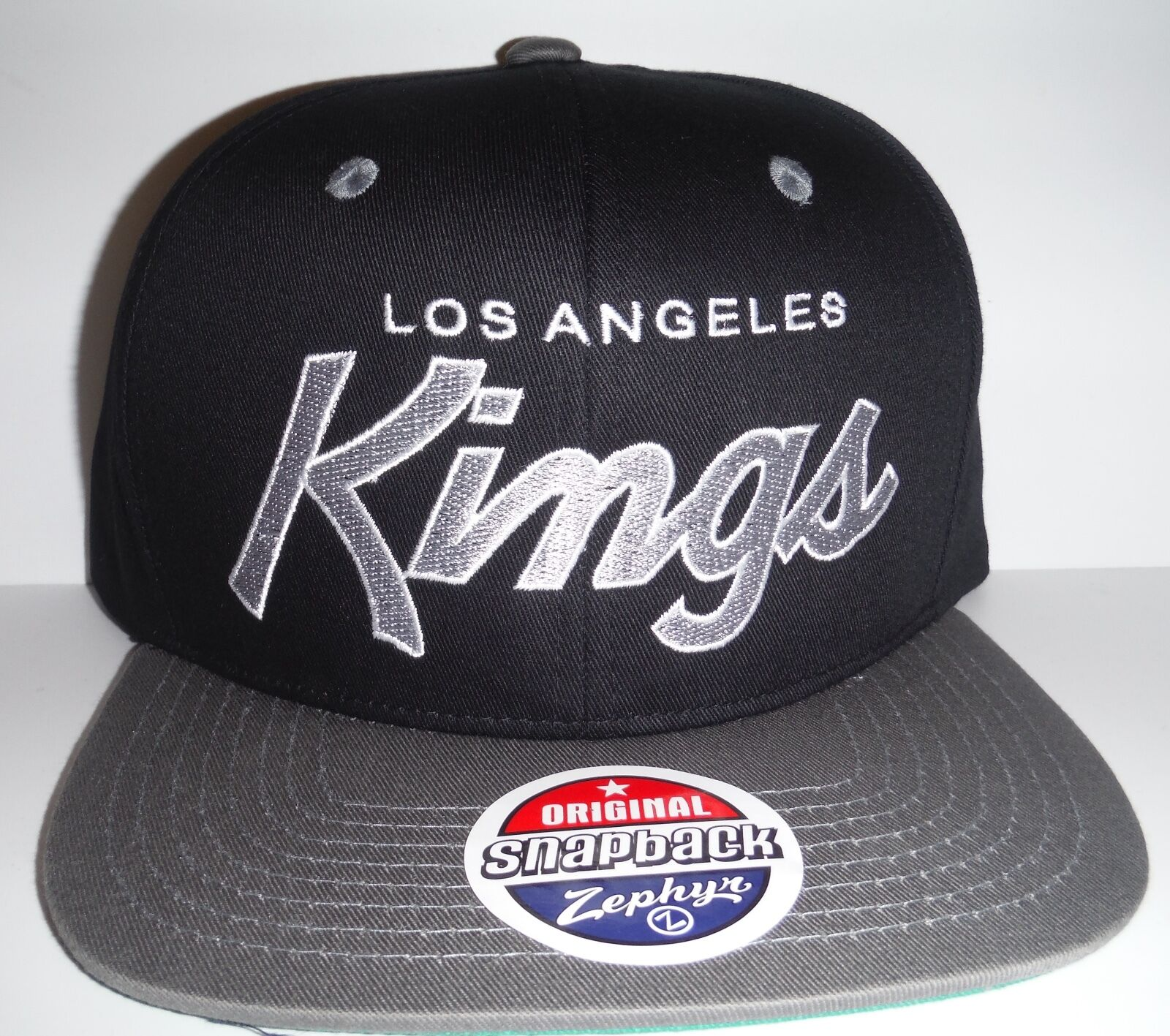 Buy Los Angeles La Kings Authentic Black Script Snapback Hat Zephyr ... e3dd6fdf62a