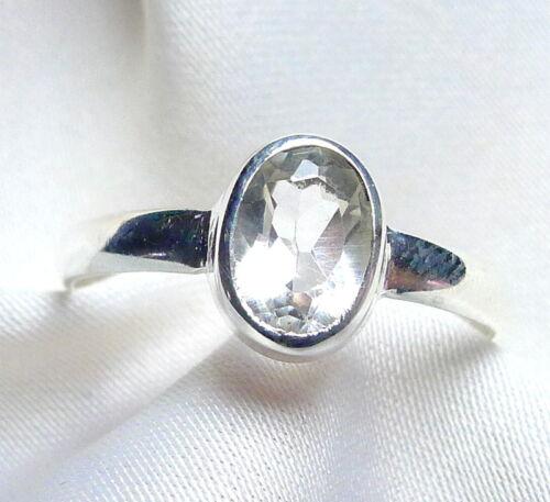Edelstein filigran Gr Bergkristall Ring 925 Sterling Silber fac 50-71 neu