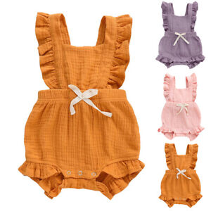 5043f467a Image is loading Toddler-Infant-Kids-Baby-Girls-Clothes-Romper-Jumpsuit-