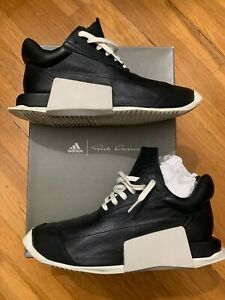 78c73d93e Details about Rick Owens Adidas RO Level Runner Low Black White 7.5 8  Sneaker Shoes Boost Air