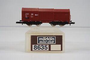 Z-Marklin-Mini-Club-8635-DB-Telescoping-Covered-Coil-Wagon-Car-European-Freight