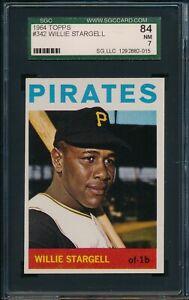 1964-Topps-Baseball-Willie-Stargell-342-SGC-84-PIRATES-NM-HOF