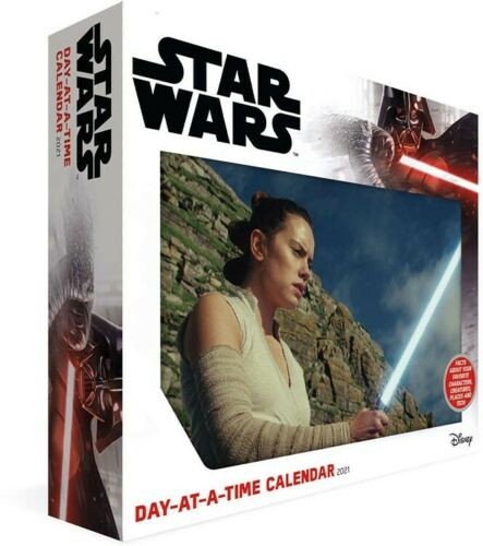 DateWorks Disney Star Wars 2021 Day-at-a-Time Calendar FULL COLOR ON EVERY PAGE
