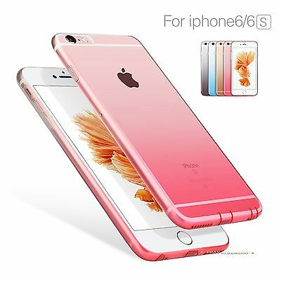 Ultra Thin Shockproof Soft Silicone Rubber Clear Case Cover For iPhone 6 6S Plus