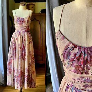 PLENTY by Tracy Reese Anthropologie Silk Maxi Dress Romantic 6