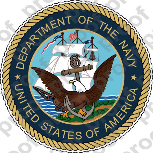 STICKER USN VET U.S DEPARTMENT OF THE NAVY SHIELD