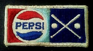 Vintage, Pepsi-Cola w/ Crossed Baseball Bats Embroidered Sew-on Patch