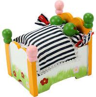 Spieluhr Frösche im Bett -bewegen sich- Spieldose mit Melodie It´s a small world