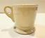 miniature 3 - Anthropologie Letter I Initial Coffee Mug White Black Retro Shaving Cup Monogram