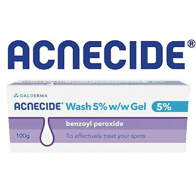 Acnecide 5% Benzyl Peroxide 100g Gel Face Wash Acne Spots ...