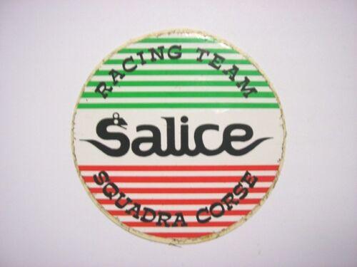 ADESIVO MOTO originale anni '80 / Old Sticker SALICE RACING TEAM (cm 7) occhiali