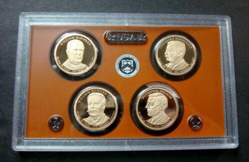 2013-S PRESIDENTIAL GOLDEN DOLLARS FOUR COIN PROOF SET ULTRA CAMEOS *NO BOX A-10