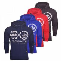 Crosshatch Mens Casual Hoodie Overhead Logo Top Hoody Hooded Fleece Sweatshirt