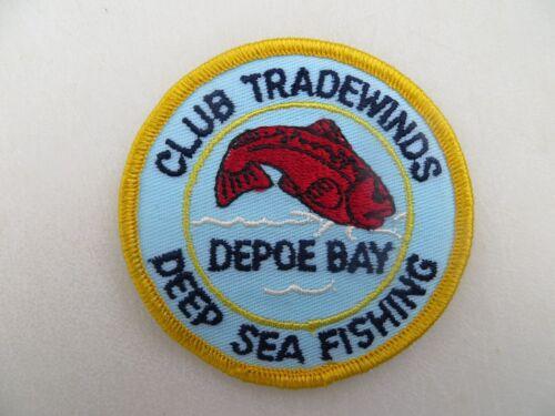 Vintage Mint Fishing Patch 3 inch DEPOE BAY CLUB TRADEWINDS