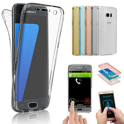 Front+Back Full Body Silicone Shockproof 360° Screen Protector Case Cover