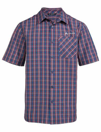Vaude Herren Wander-Freizeit-Hemd Men/'s Albsteig Shirt blau rot