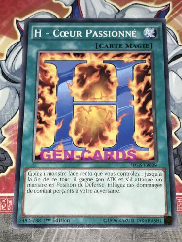 Carte YU GI OH H COEUR PASSIONNE SDHS-FR028 x 3