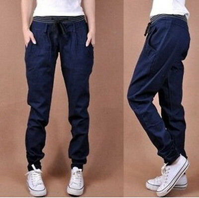 Hot Sale! Women's Fashion Casual loose code harlan outseam jeans pants