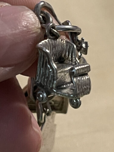 Sterling Hand Cart Charm Vintage Hand Cart Sterling Silver Charm for Bracelet from Charmhuntress 07051