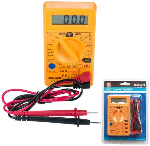 BlueSpot LCD Digital Multimeter Voltmeter AC /& DC Voltage Tester Circuit Checker