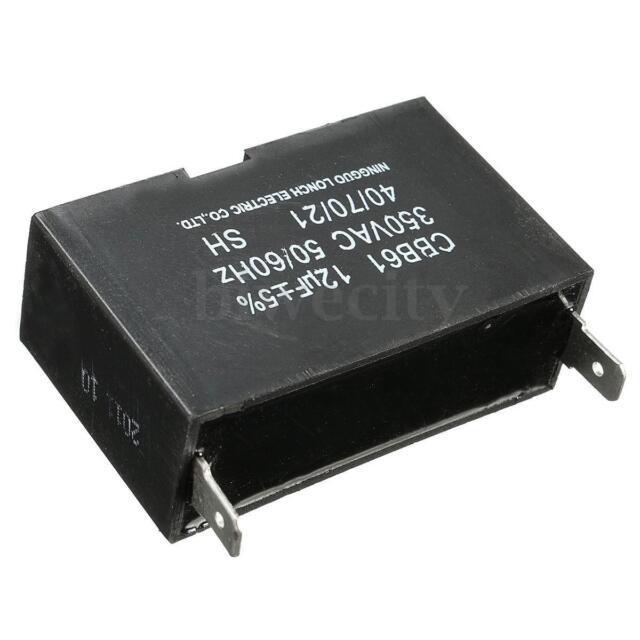 Black 12uF Generator Capacitor Motor Run Generator CBB61 50/60HZ 350V AC