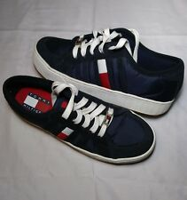 Vintage 90s Tommy Hilfiger Platform Sneakers Blue Sz 8.5M Suede Hip Hop Shoes