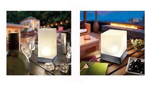 2 Led Solaire Lampe de Table Jardin Luminaire Décoration | eBay