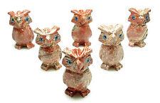 CARVED - Red DOLOMITE OWL Spirit Animal Totem with Card - Healing Reiki Stone