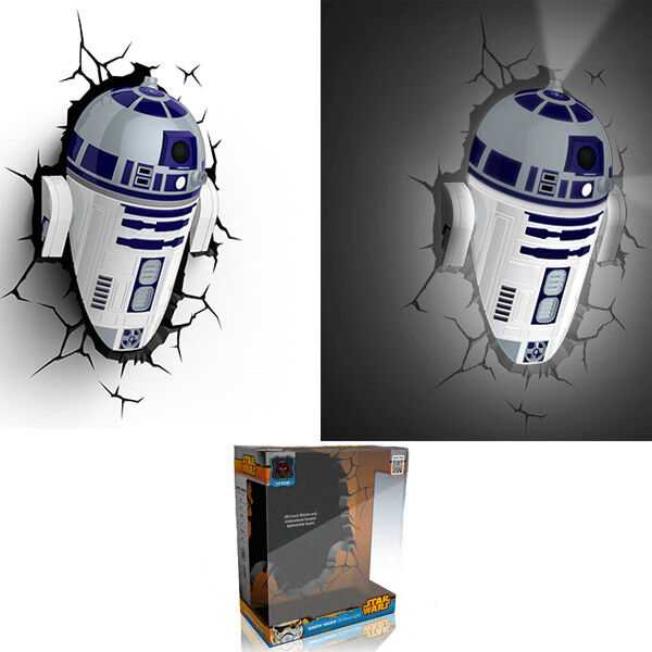 Star Wars R2-D2 Lampe Murale 3D Deco Wall Light 3D LIGHT FX