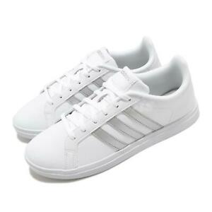 Details about adidas Courtpoint White Silver Women Tennis-Style Casual Shoes Sneakers FW7376
