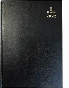 Collins-2022-una-Pagina-por-Dia-A4-Negro-Diario-Tapa-Dura-Escritorio-de-Oficina