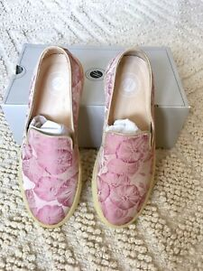 Hudson By 5 £110 Slip Plimsolls H Pink Flats Bnib On 38 Annuk Floral TnP6qExw
