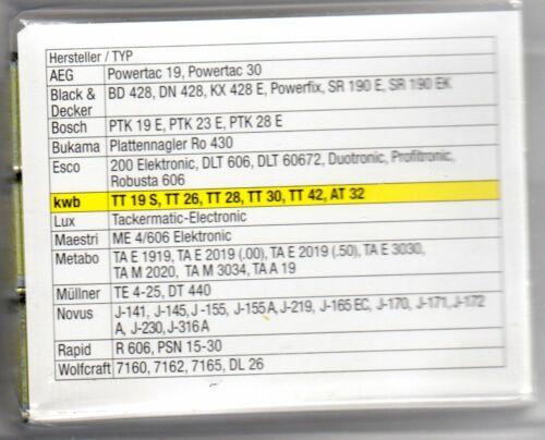 KWB 18 mm breit Tacker Klammern Typ 55 800 Stück-AEG,B /& D,Bosch ectr