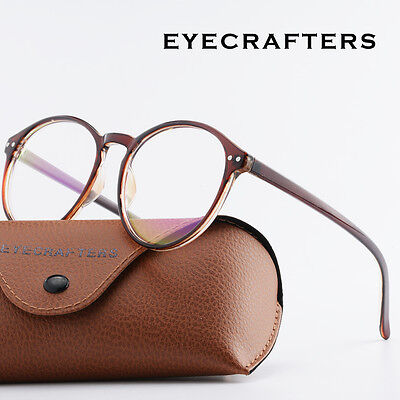 New Vintage Round Eyeglass Frame Glasses Retro Spectacles Clear Lens Eyewear new