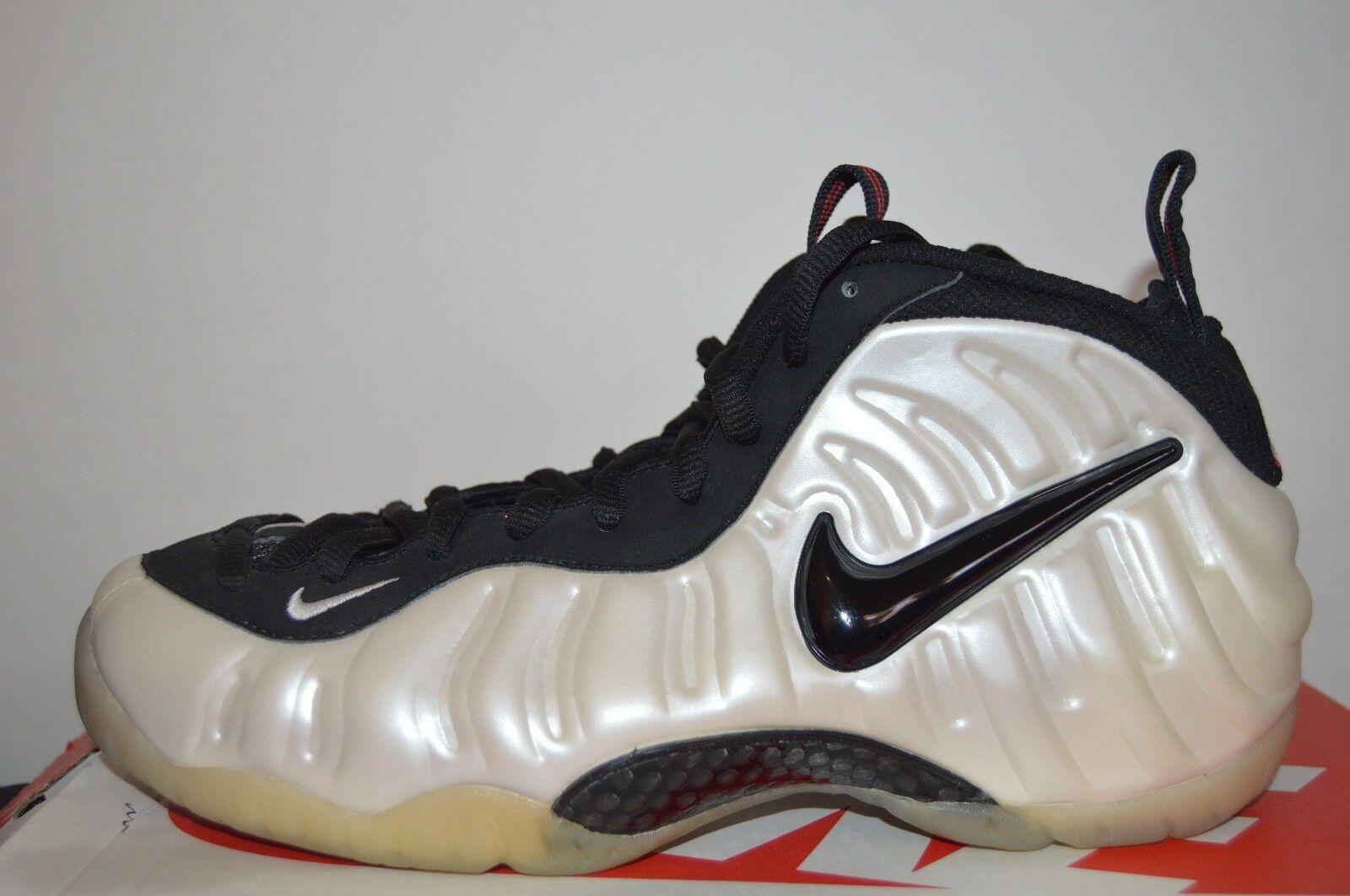 Nike Air Foamposite Pro Pearl White 2002 Men's Retro Basketball shoes Size 9.5