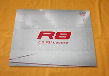Audi R8 5.2 FSI Quattro 2008 Prospekt Brochure Depliant Catalog Prospetto
