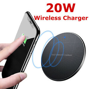 Wireless Charger, 20W Fast Charging Pad for iPhone/Samsung, All Qi-Enabled Phone